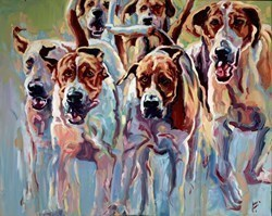 Jamboree by Joy Harris -  sized 39x32 inches. Available from Whitewall Galleries